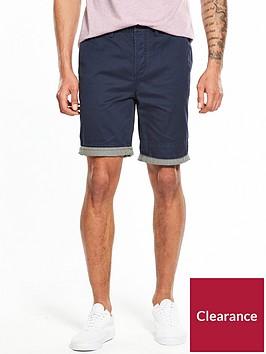 pretty-green-preston-striped-hem-shorts-ndash-navy