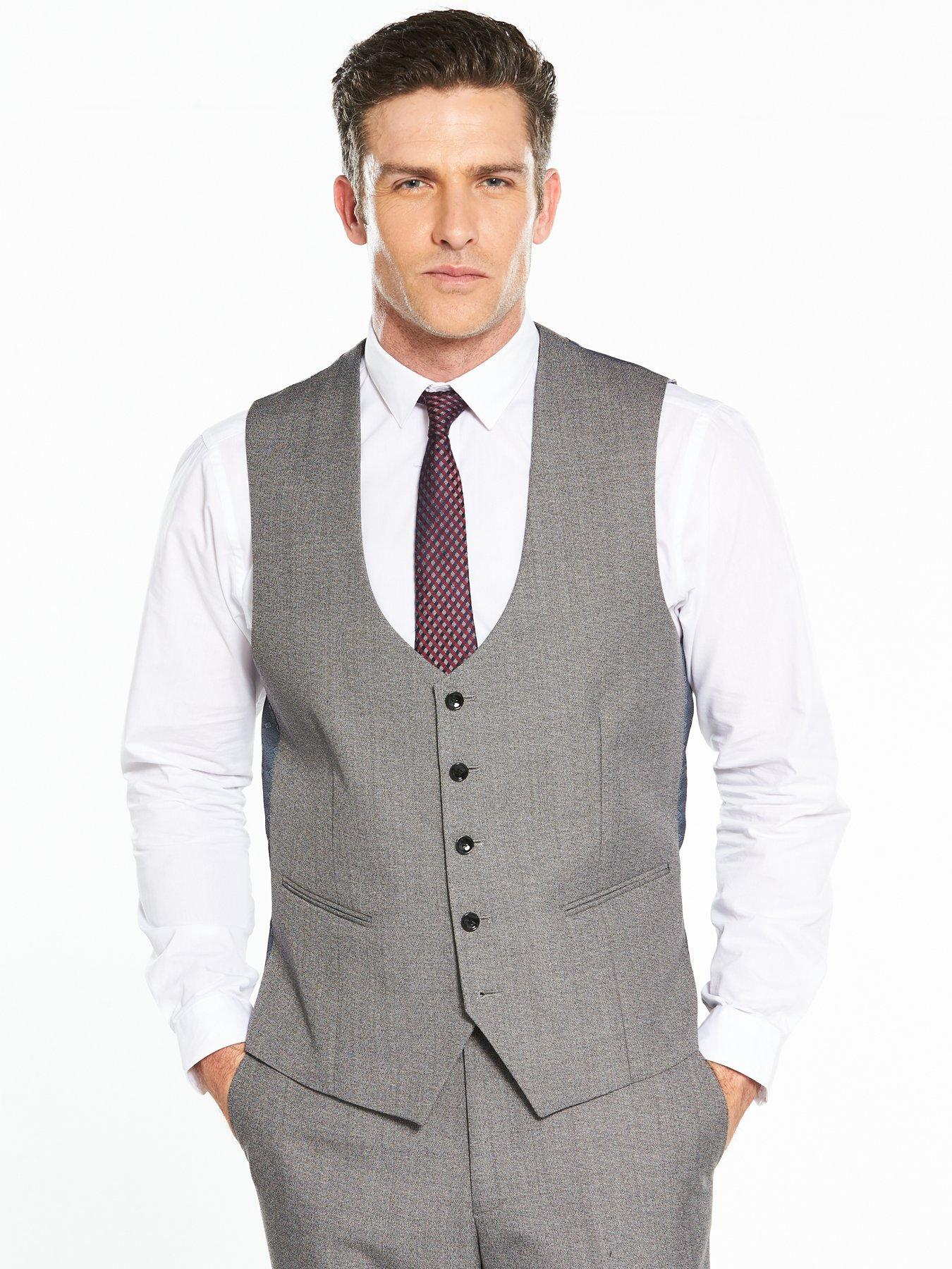 Skopes Heritage Collection Whitman Wool Blend Suit Waistcoat - Grey