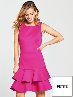 v-by-very-petite-petite-peplum-hem-scuba-dress--nbspfucshianbsp