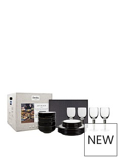 denby-denby-jet-12pc-dining-set-with-glass-and-accessories
