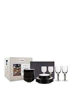 denby-jet-black-12-piece-dining-set-with-glasses-and-accessories