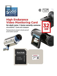 SanDisk High Endurance MicroSD for Security/Dash Cam - 32GB