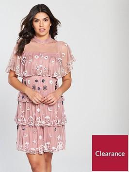 v-by-very-tiered-embroidered-embellished-dress