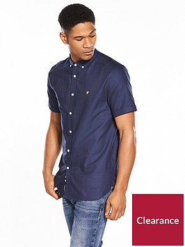 lyle-scott-classic-short-sleeved-oxford-shirt