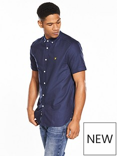 lyle-scott-lyle-amp-scott-classic-short-sleeved-oxford-shirt