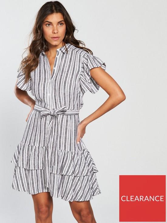 804b7939da V by Very Stripe Linen Dress