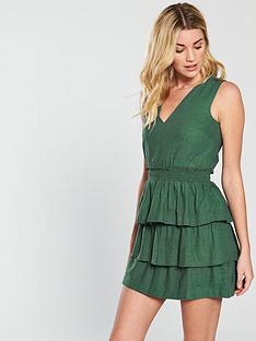 v-by-very-tiered-linen-dress-khaki