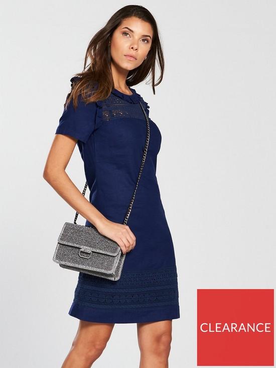 71637ce322 V by Very Linen Tunic Dress - Navy