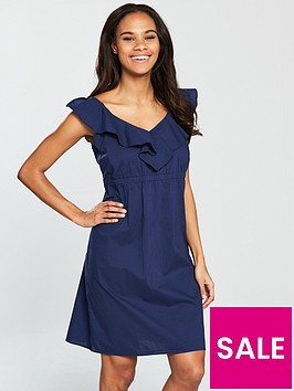 v-by-very-cotton-mini-dress-navy