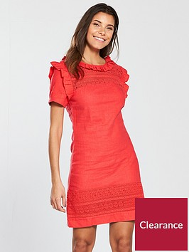 v-by-very-lace-linen-frill-tunic-dress-red