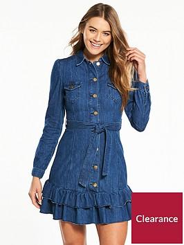 v-by-very-denim-frill-hem-shirt-dress