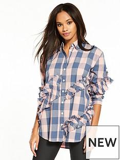 river-island-frilled-check-shirt--pink