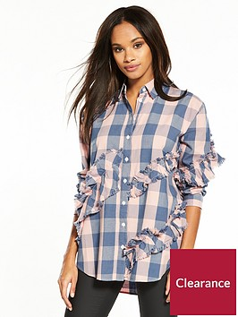 river-island-frilled-check-shirt--pink