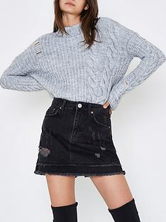 river-island-denim-skirt--washed-black