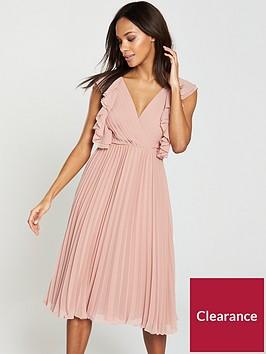 v-by-very-pleated-frill-midi-dress