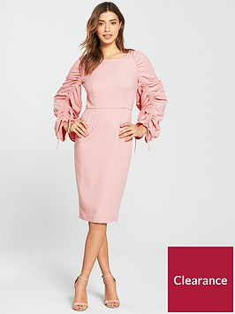 v-by-very-ruched-sleeve-pencil-dress