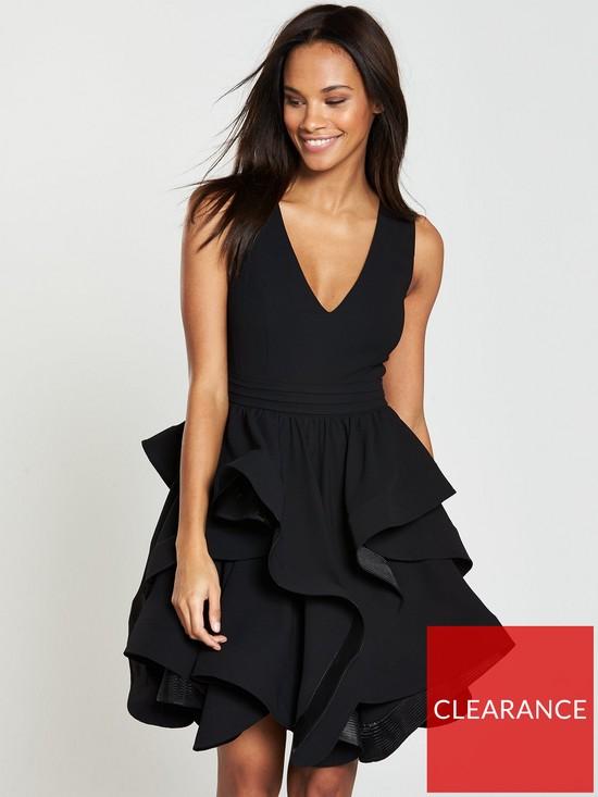 95f145310db V by Very Tiered Ruffle Hem Dress