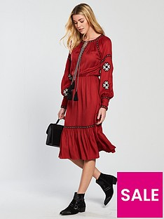 v-by-very-embroidered-midi-dress