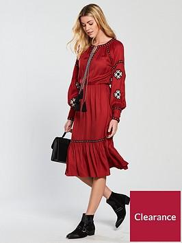 v-by-very-embroidered-midi-dress