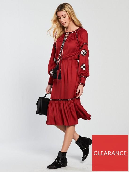 acb39e8524 V by Very Embroidered Midi Dress   very.co.uk