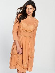 v-by-very-crochet-trim-midi-dress