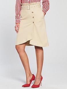 v-by-very-paperbag-wrap-midi-skirt-ecru