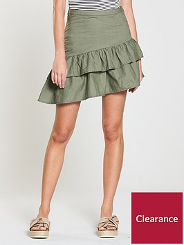 v-by-very-ruffle-poplin-skirt-khaki