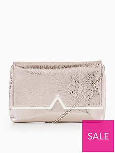 ed930f3b87 V by Very V Bar Metallic Clutch Bag - Silver