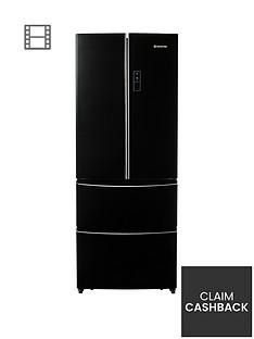 hoover-hmn7182bk1nbsp70cm-american-style-frost-free-fridge-freezer-black