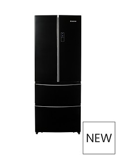 Hoover HMN7182BL/1 70cm American Style 4 Door Frost Free Fridge Freezer - Black