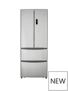 Hoover HMN7182IXK/1 70cm American-Style 4-Door Frost Free Fridge Freezer - Stainless Steel