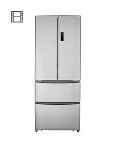 Hoover HMN7182IXK/1 70cm American-Style Frost Free Fridge Freezer - Stainless Steel