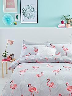 catherine-lansfield-flamingos-cotton-rich-duvet-cover-set