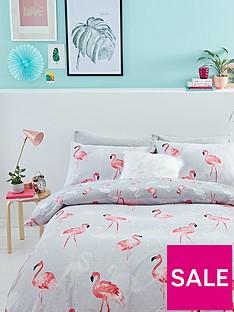 catherine-lansfield-flamingos-cotton-rich-duvet-cover-setnbsp