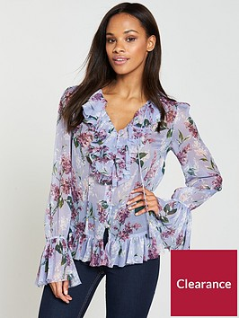 v-by-very-ruffle-neck-blouse