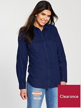 v-by-very-linen-utility-shirt-navy