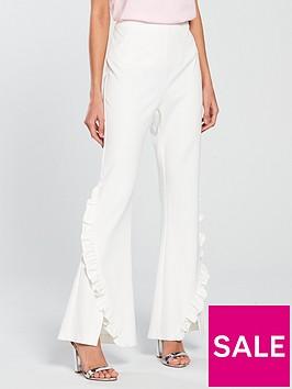 v-by-very-frill-flare-trouser-whitenbsp