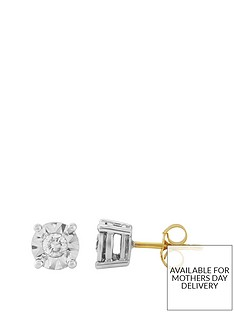 starlight-9ct-gold-1ct-look-10-point-diamond-illusion-set-earrings