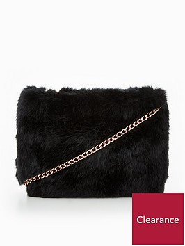 v-by-very-faux-fur-clutch-bag