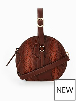 v-by-very-snake-print-circle-crossbody-bag