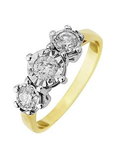 starlight-9ct-gold-2ctnbsplook-50-point-illusion-set-trilogy-ring