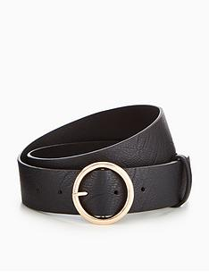 v-by-very-circle-detail-belt-black