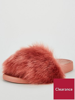 v-by-very-lolly-faux-fur-slider-pink