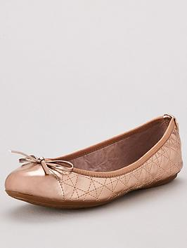 Butterfly Twists Olivia Toe Cap Ballerina Flats - Rose Gold