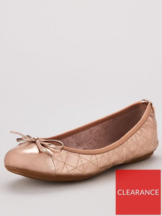 fbe6055f7a5 BUTTERFLY TWISTS Olivia Toe Cap Ballerina Flats - Rose Gold