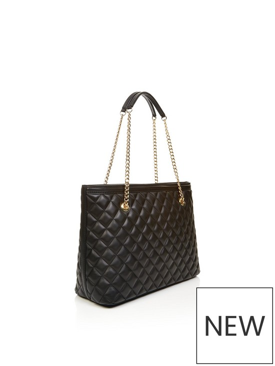 17bc6a98fb LOVE MOSCHINO Quilted Logo Shopper Bag - Black | very.co.uk
