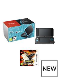 nintendo-new-nintendo-2ds-xl-black-and-turquoisenbspwith-pokemon-ultra-sun