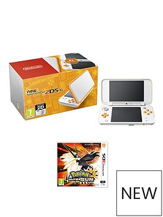 nintendo-2ds-xl-console-orange-amp-white-with-pokemon-ultra-sun