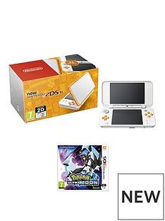 nintendo-new-nintendo-2ds-xl-hw-orange-and-white-with-pokemon-ultra-moon