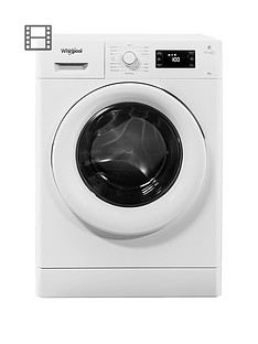 Whirlpool FreshCare+ FWG81496W 8kg Load, 1400 Spin 6th Sense Washing Machine - White